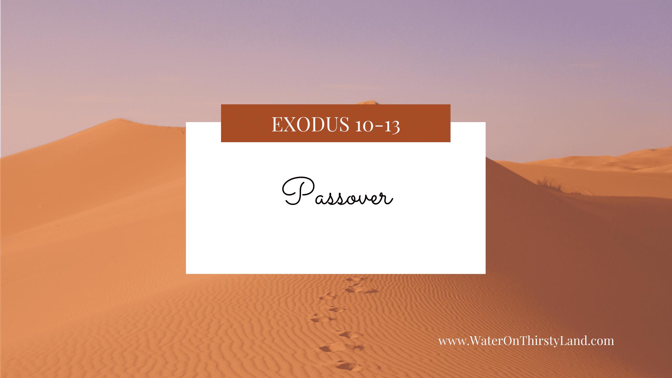 Exodus 10-13: Passover