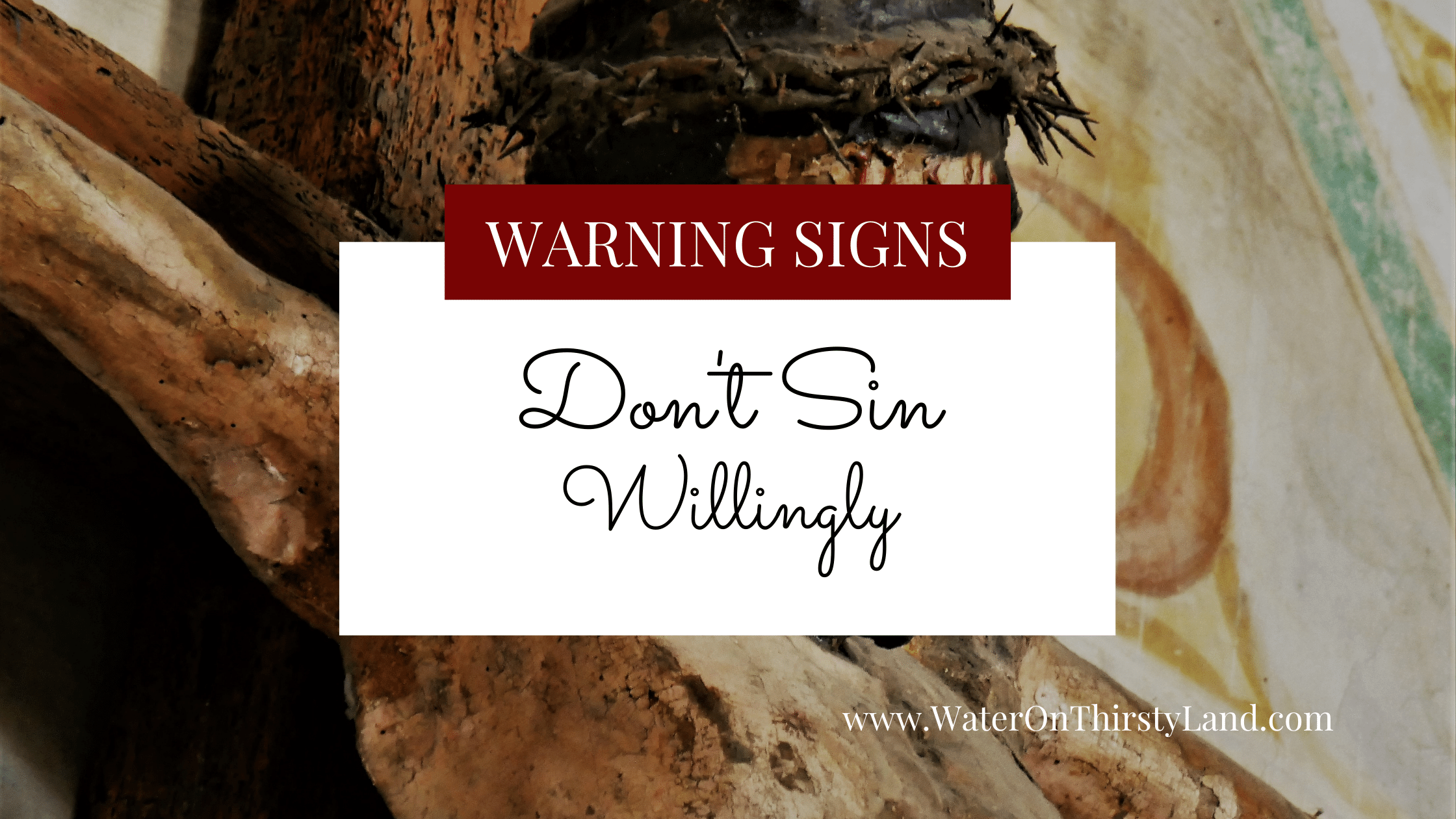 Don't Sin Willingly