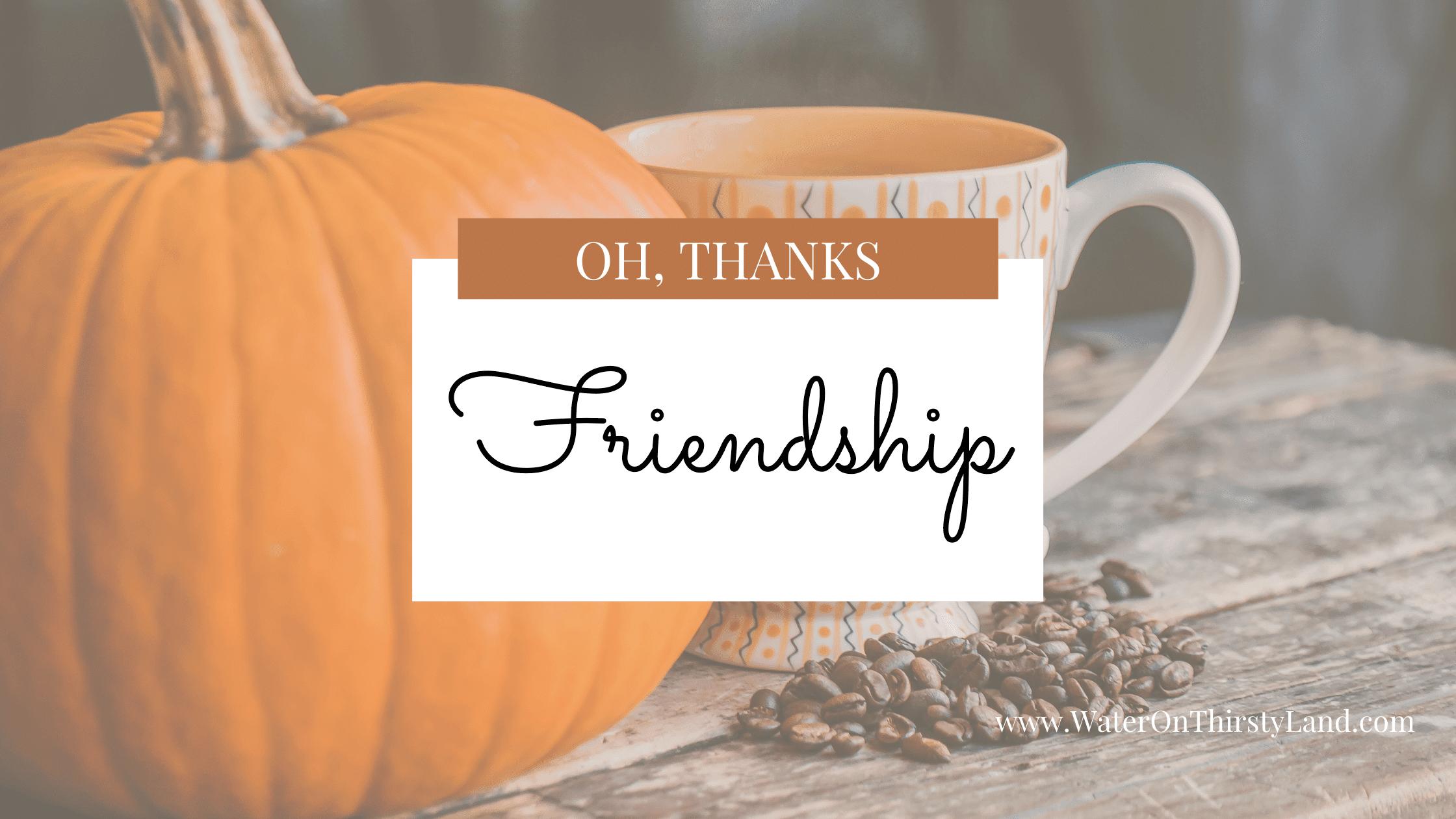Grateful for Friendship